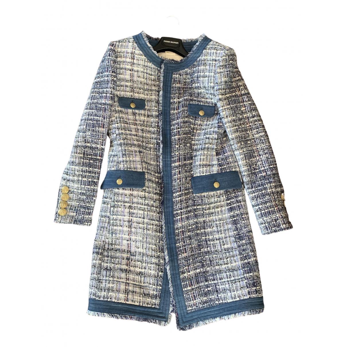 Pierre Balmain \N Blue Cotton coat for Women 36 FR