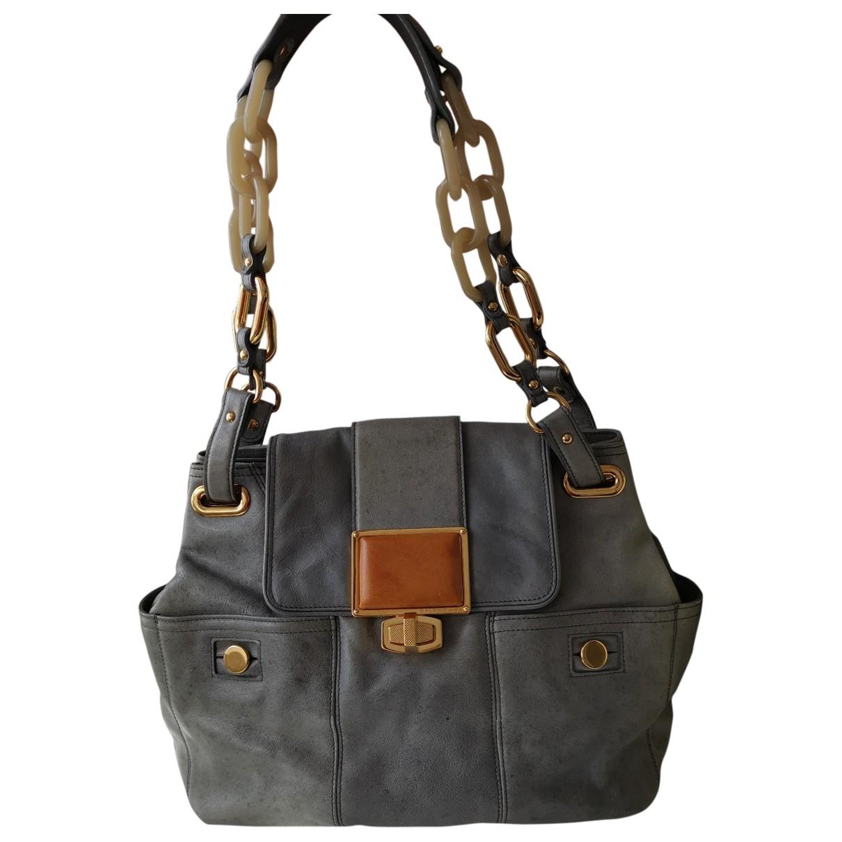 Balenciaga \N Handtasche in  Grau Leder