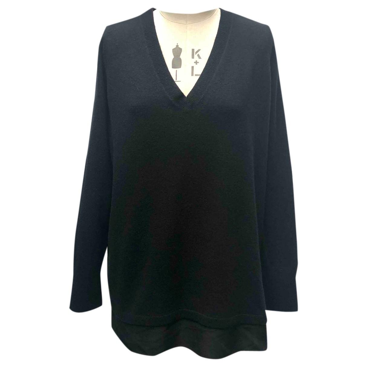 Vince - Pull   pour femme en laine - noir