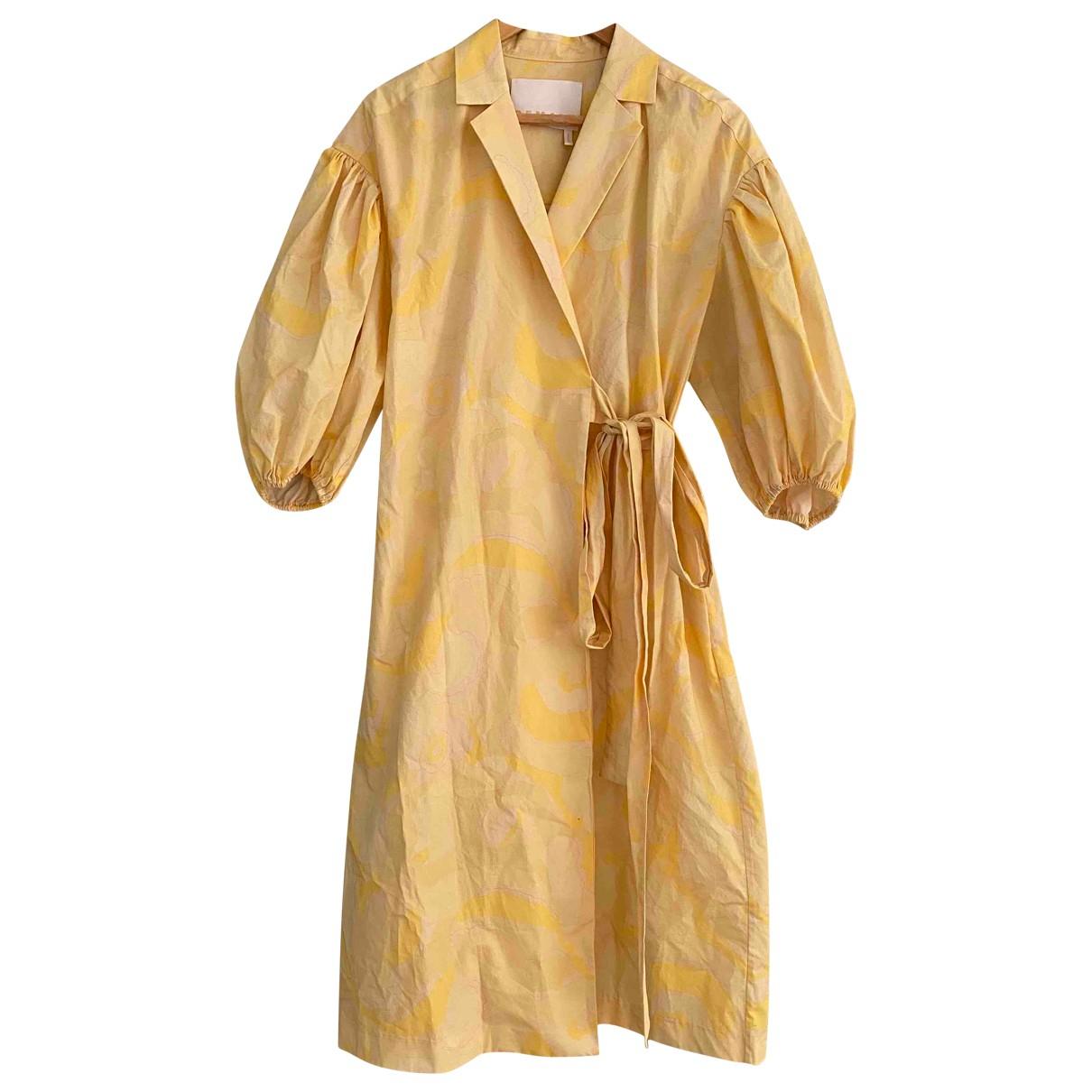 Birger Christensen - Robe   pour femme en coton - jaune