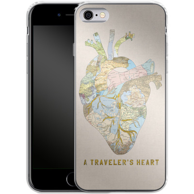 Apple iPhone 6s Silikon Handyhuelle - A Travelers Heart von Bianca Green
