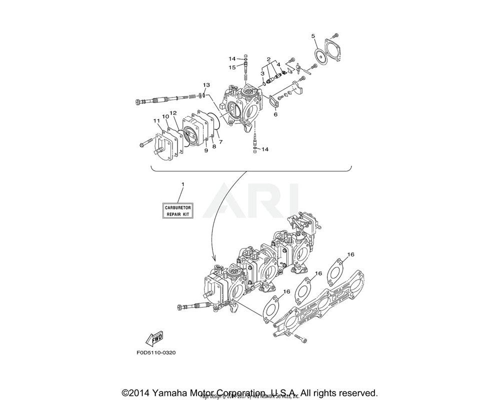 Yamaha OEM 66E-24411-00-00 DIAPHRAGM