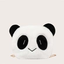 Bolso con cadena de niñas mullido con panda