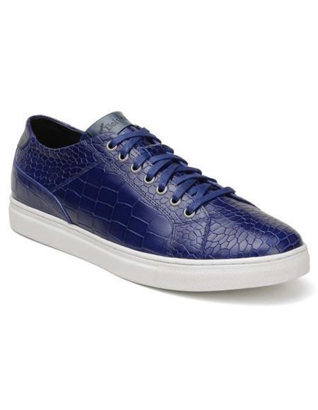 Mens Blue Lace Up Shoe