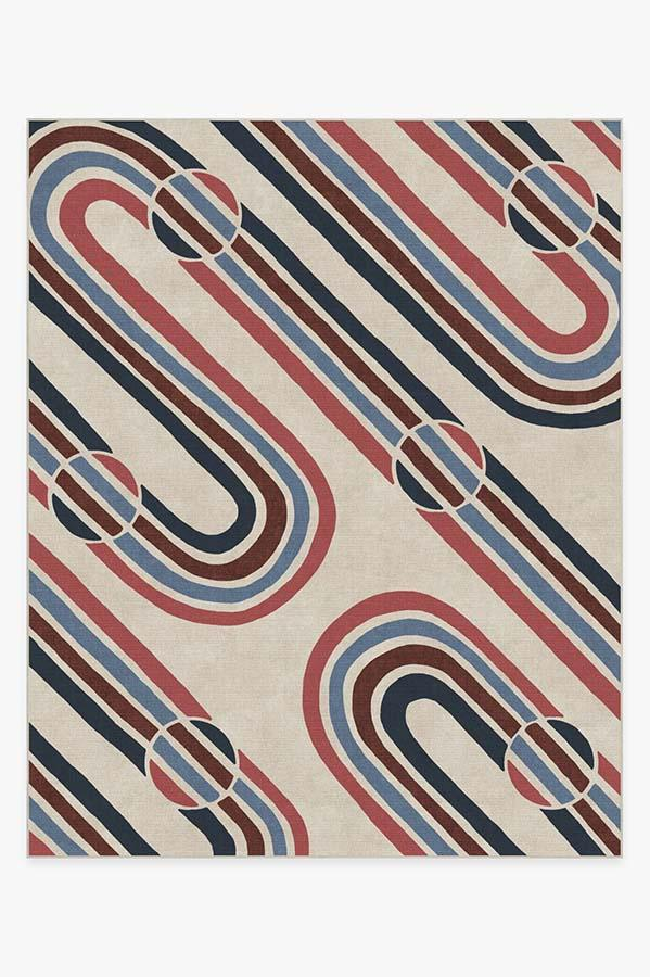 Washable Rug Cover | Metro Red Rug | Stain-Resistant | Ruggable | 8'x10'
