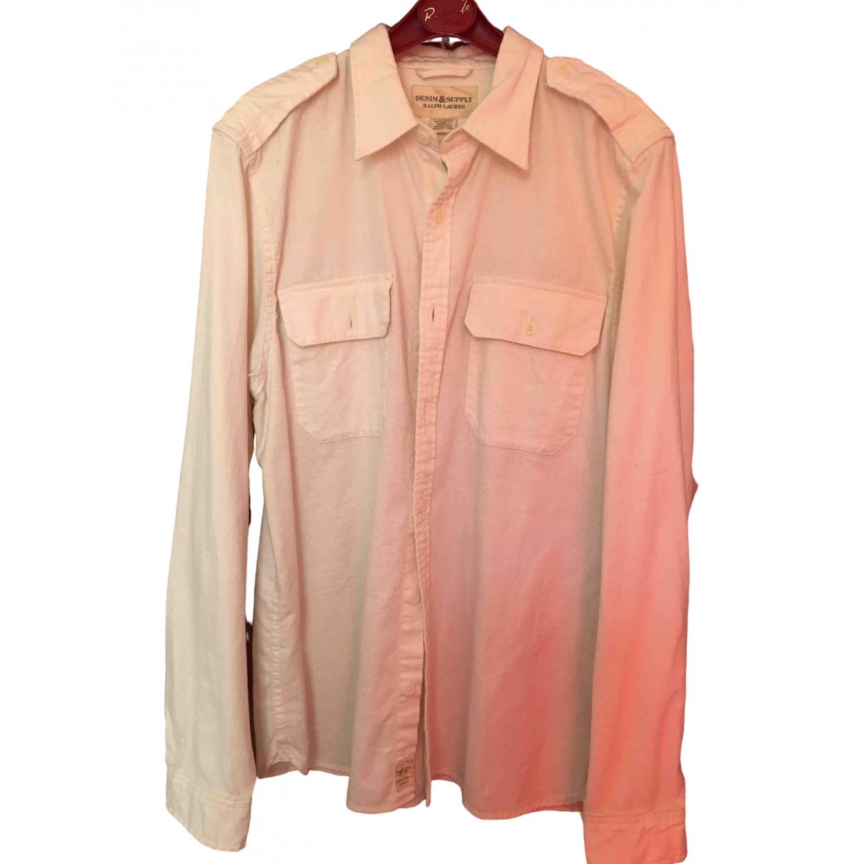 Ralph Lauren Denim & Supply \N Beige Cotton Shirts for Men L International