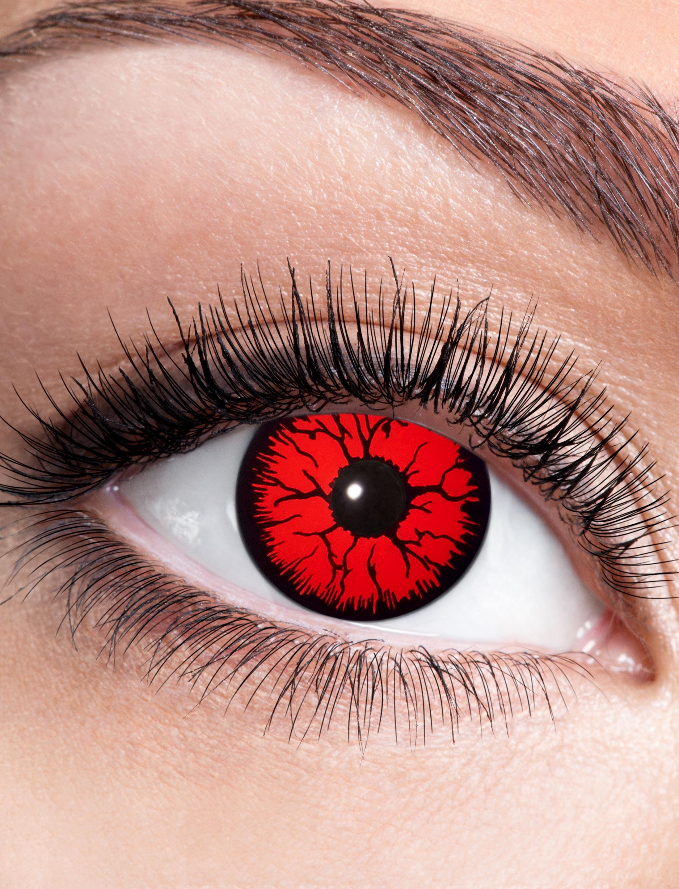Kostuemzubehor Kontaktlinsen Metatron Farbe: rot