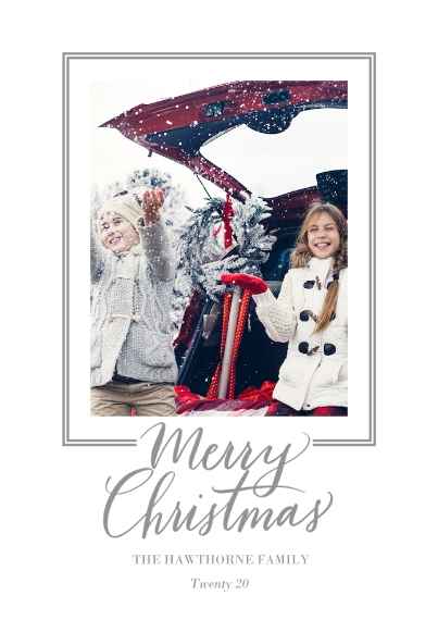 Christmas Photo Cards 5x7 Cards, Standard Cardstock 85lb, Card & Stationery -Classic Frame