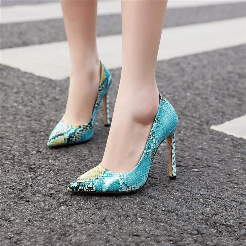 Ericdress Pointed Toe Serpentine Stiletto Heel Casual Thin Shoes
