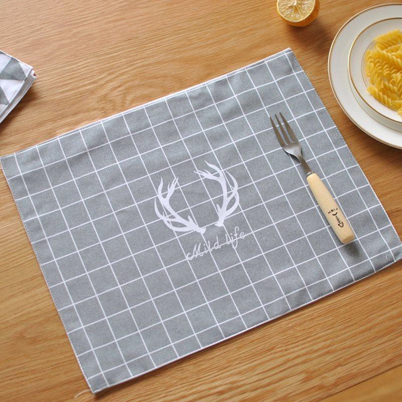 Beddinginn Cotton Rectangle Heat Insulation Placemats