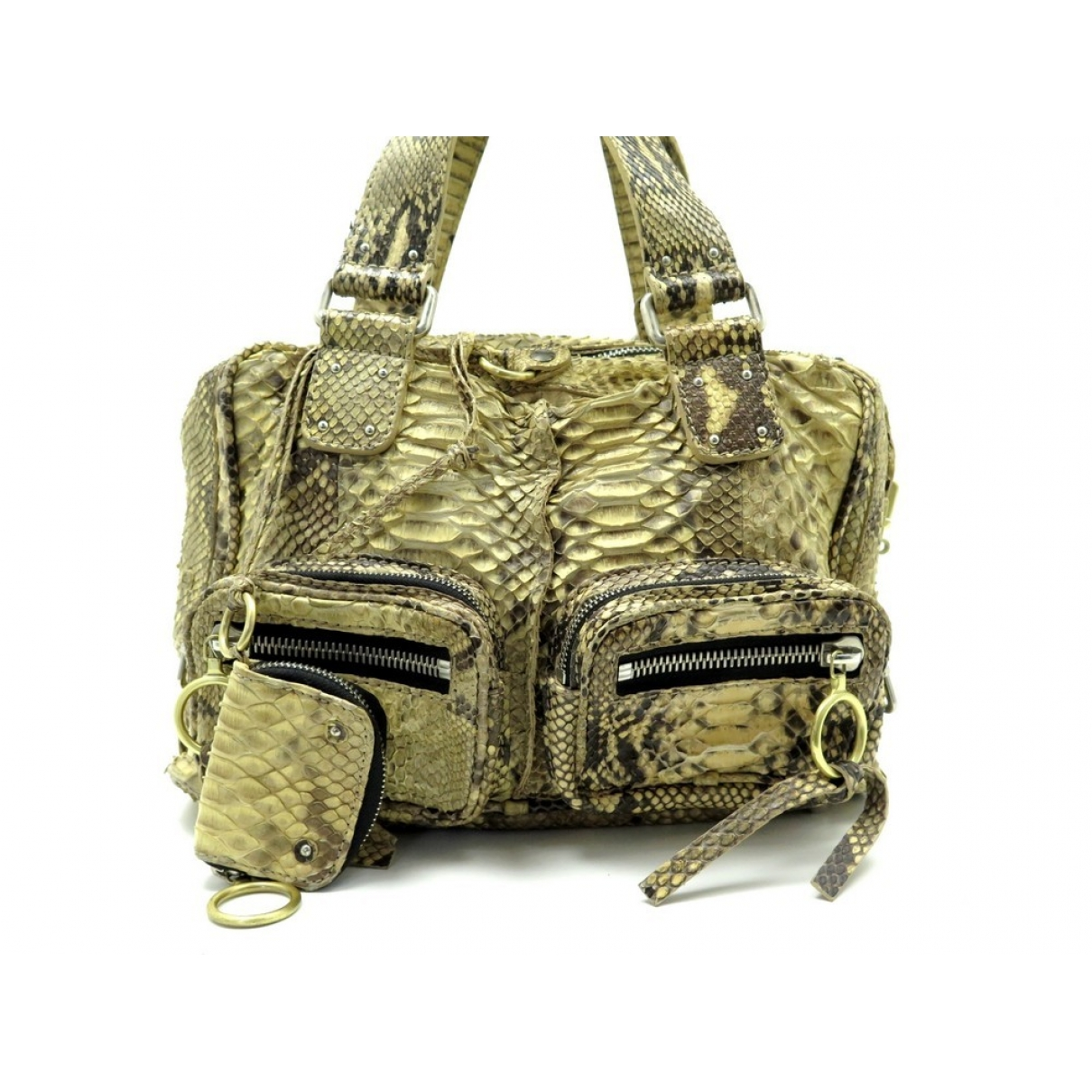 Chloe \N Handtasche in  Gelb Exotenleder