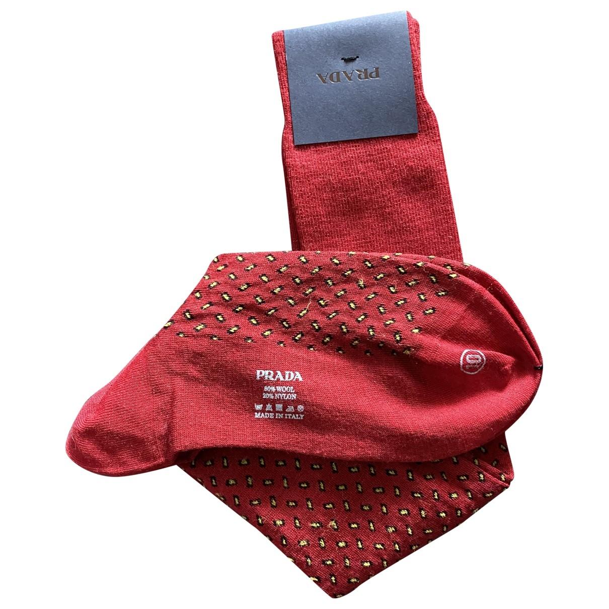 Prada \N Red Wool scarf & pocket squares for Men \N