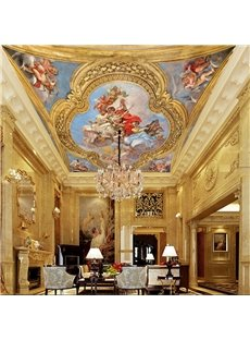 3D Source of Life Pattern Waterproof Durable and Eco-friendly Ceiling Murals