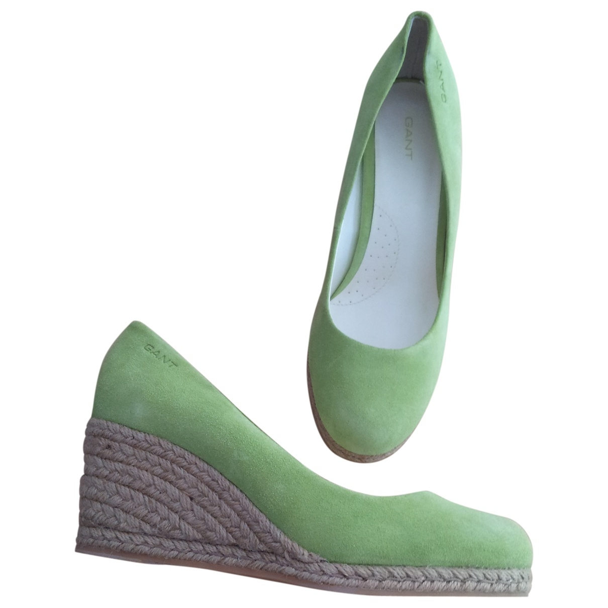 Non Signé / Unsigned \N Green Suede Espadrilles for Women 40 EU