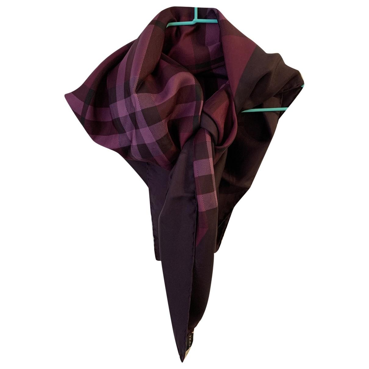 Burberry - Foulard   pour femme en soie - violet