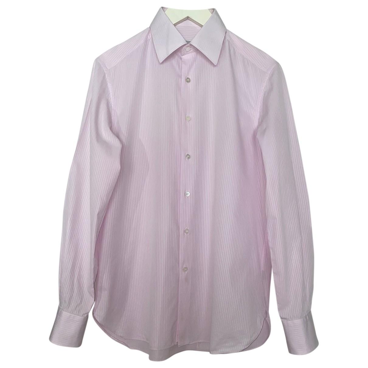 Stefano Ricci - Chemises   pour homme en coton - rose
