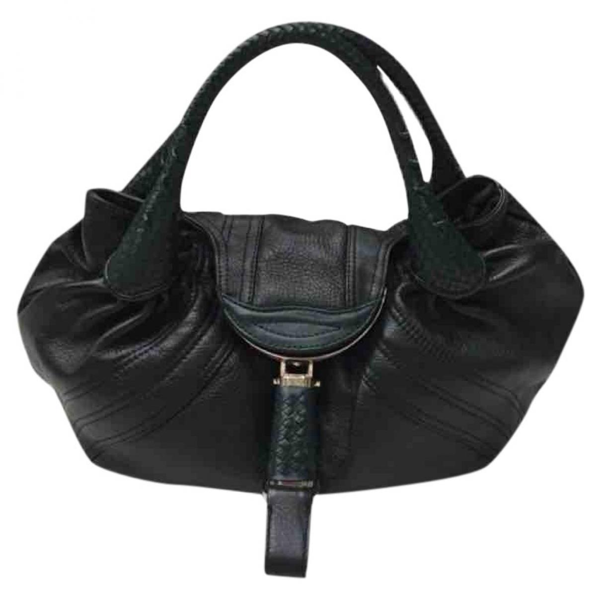 Fendi Spy Green Leather handbag for Women \N