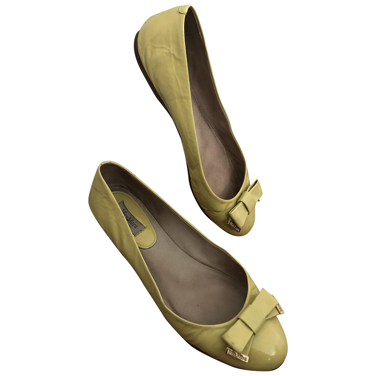 Max Mara \N Yellow Patent leather Ballet flats for Women 5.5 UK