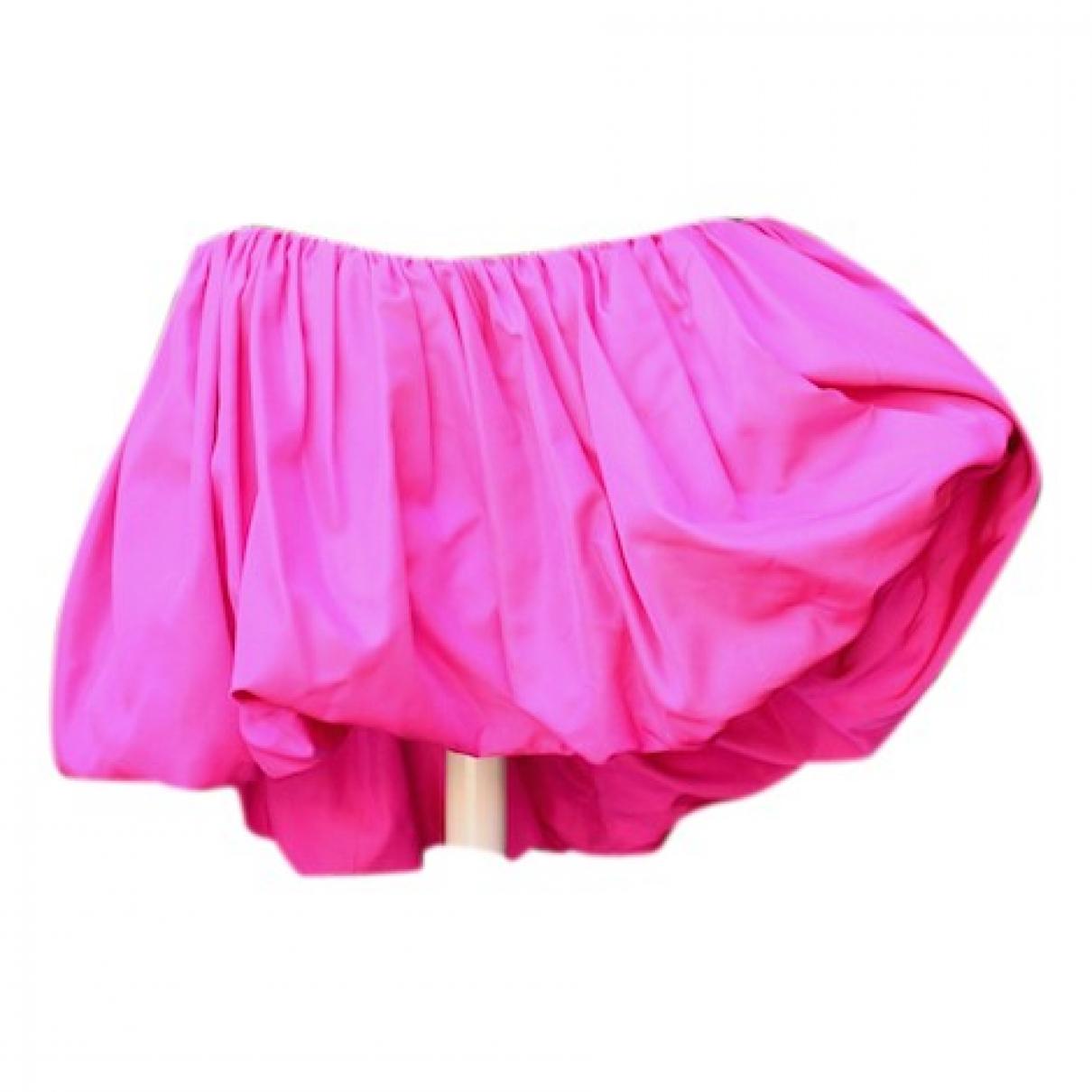 Yves Saint Laurent \N Kleid in  Rosa Samt