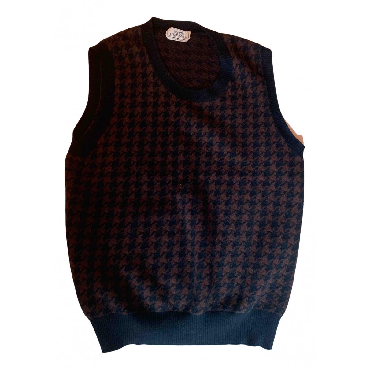Hermes - Pull   pour femme en laine - marron