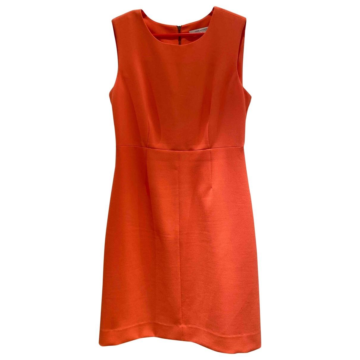 Diane Von Furstenberg \N Kleid in  Orange Synthetik