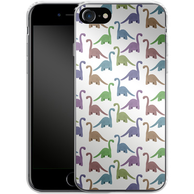 Apple iPhone 7 Silikon Handyhuelle - Cute Dinosaurs von Becky Starsmore