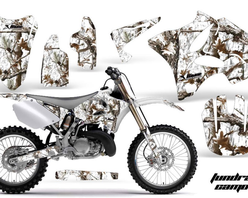 AMR Racing Dirt Bike Graphics Kit Decal Wrap for Yamaha YZ125 YZ250 2002-2014áTUNDRA CAMO