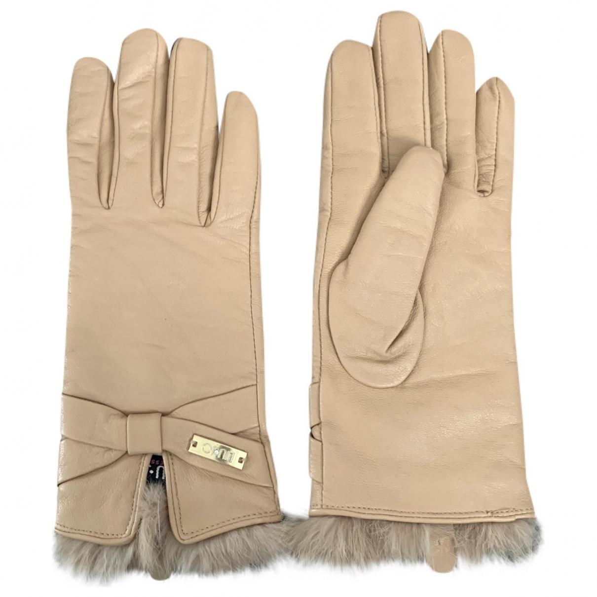 Liu.jo \N Beige Leather Gloves for Women S International