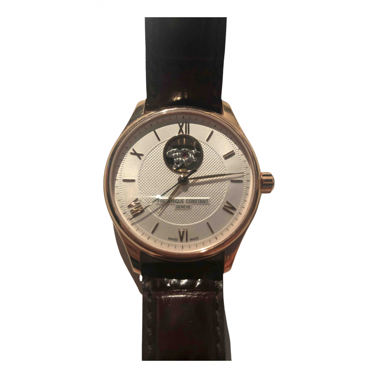 Frederique Constant Classic Index Automatique Brown Pink gold watch for Men N