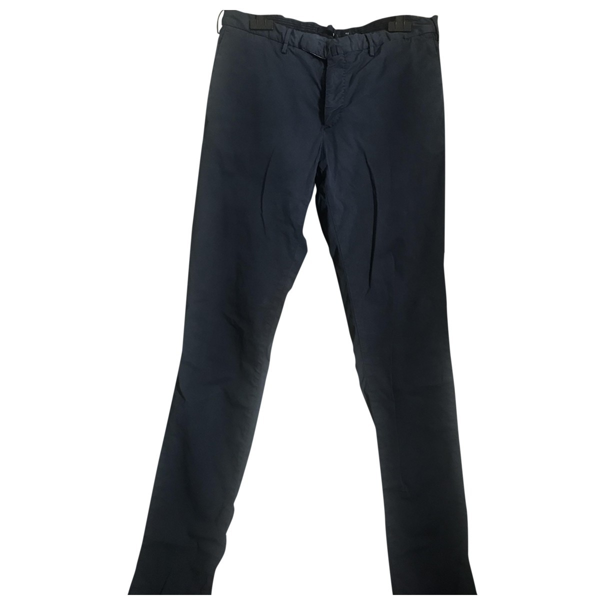 Incotex \N Blue Cotton Trousers for Men 48 IT