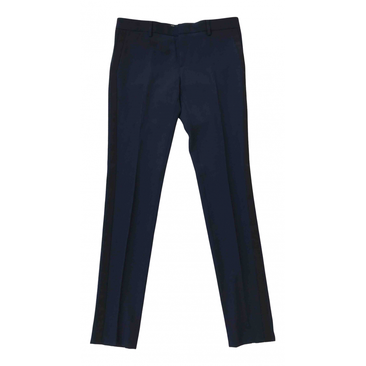 Saint Laurent N Black Wool Trousers for Women 40 FR