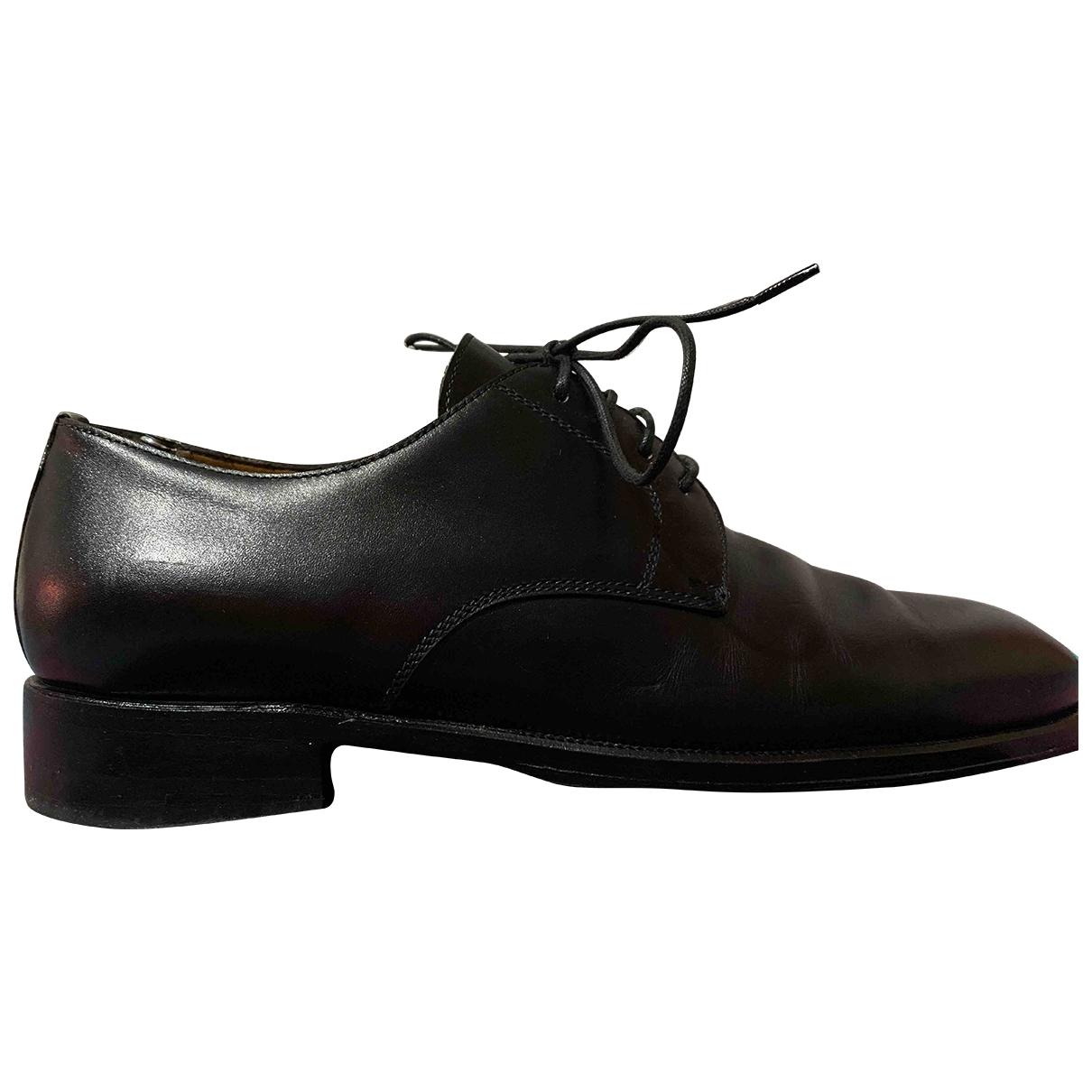 Neil Barrett - Baskets   pour homme en cuir - noir