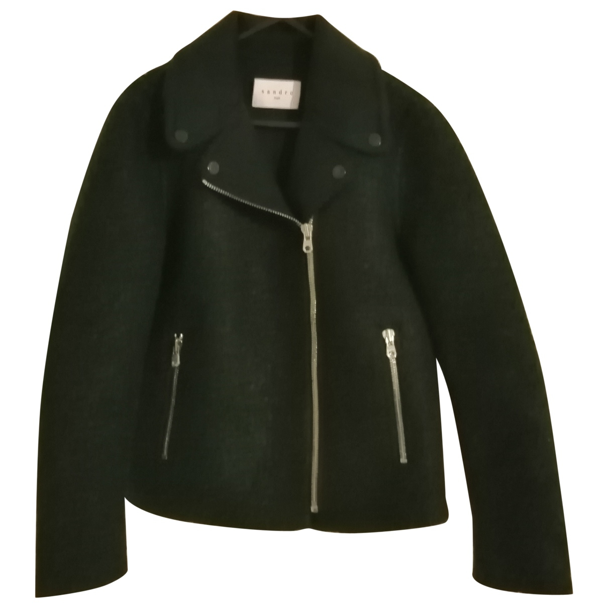 Sandro \N Green Wool jacket for Women 36 FR