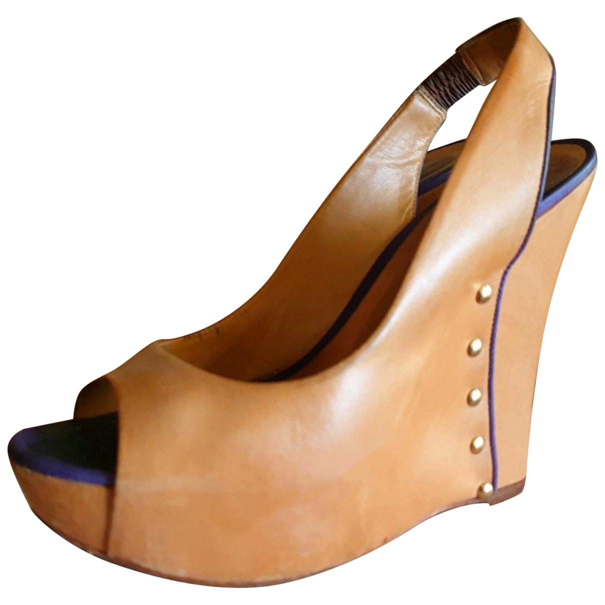 Schutz \N Sandalen in  Braun Leder