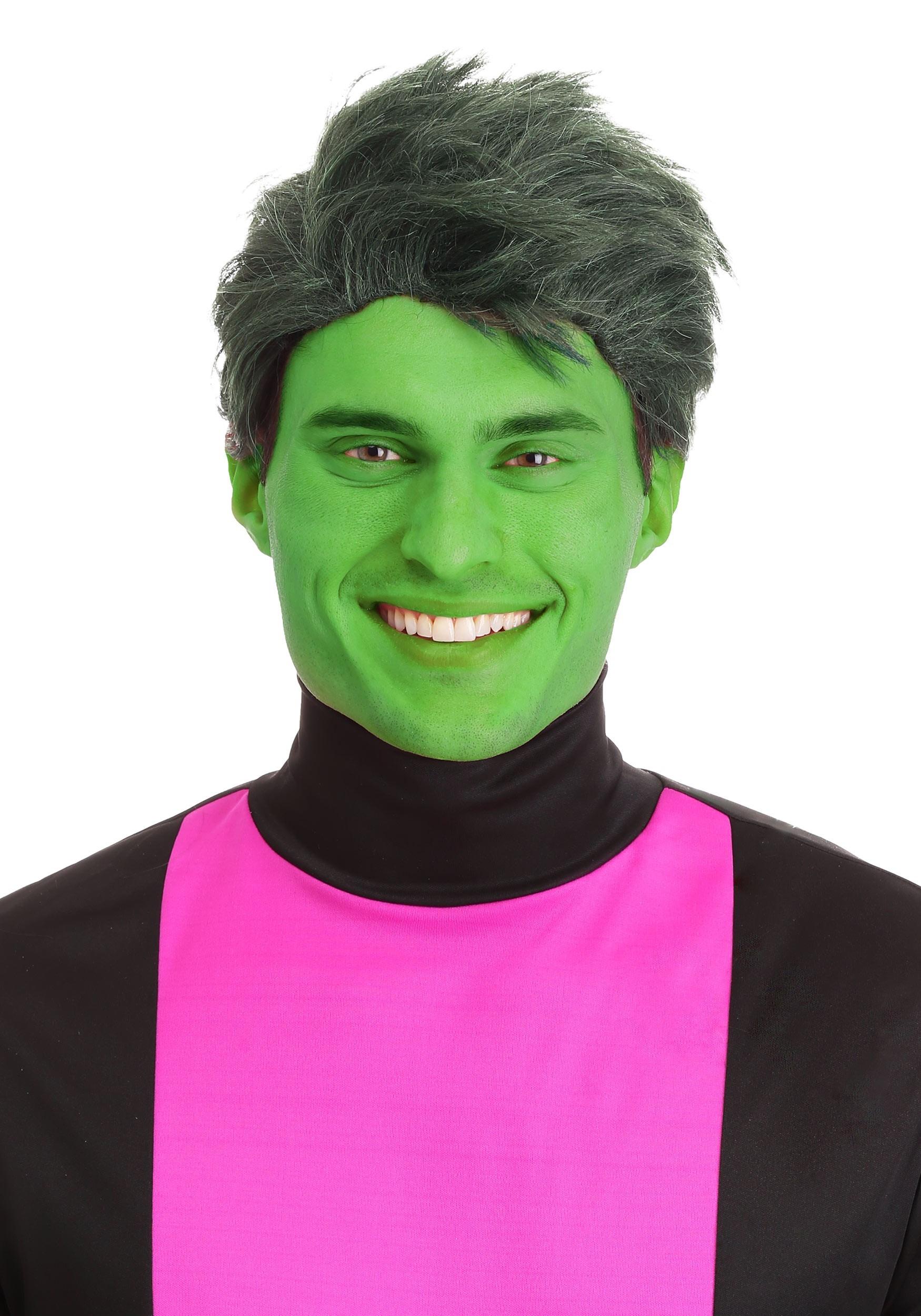 Green Shapeshifting Superhero Wig for Men