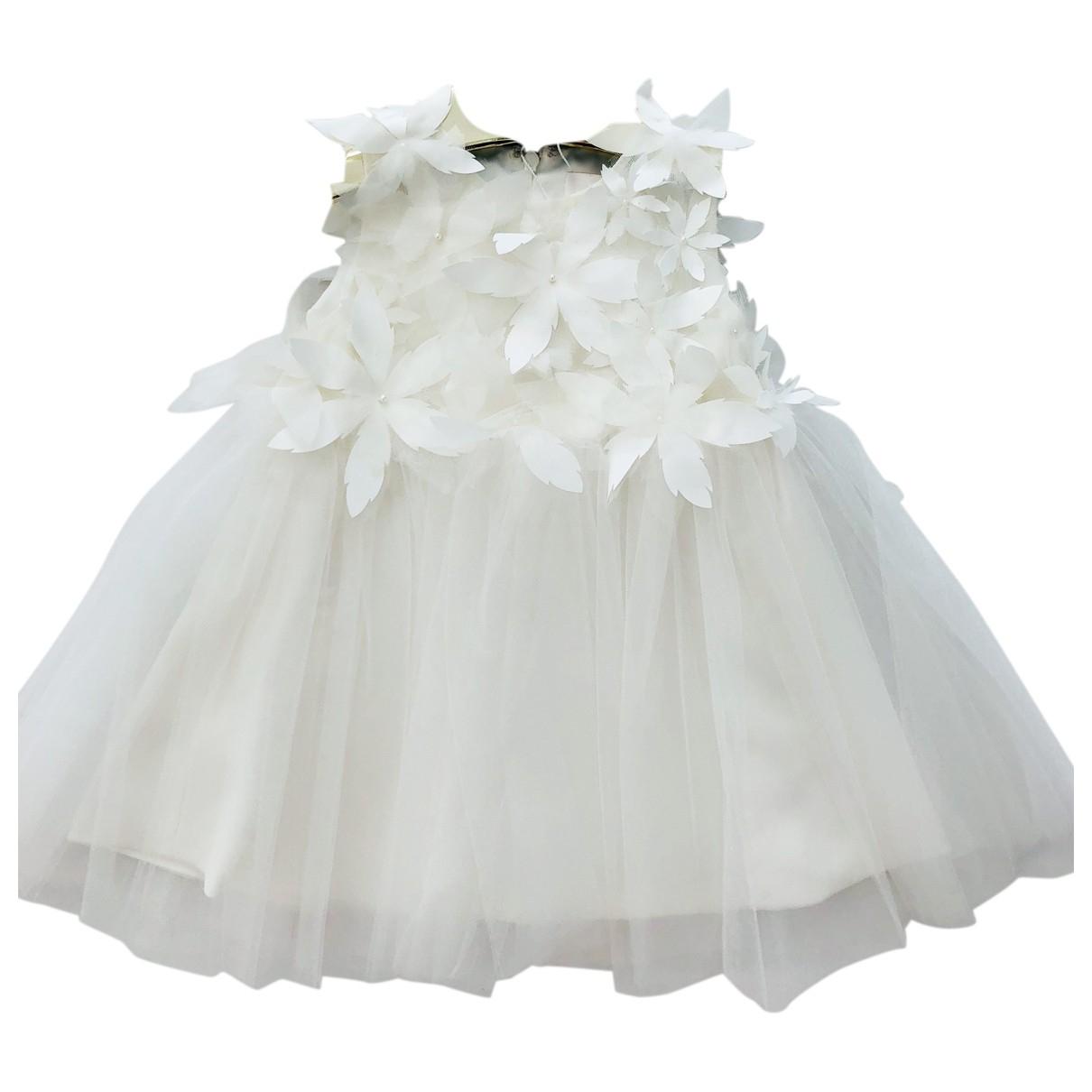 Mischka Aoki \N Kleid in  Weiss Synthetik
