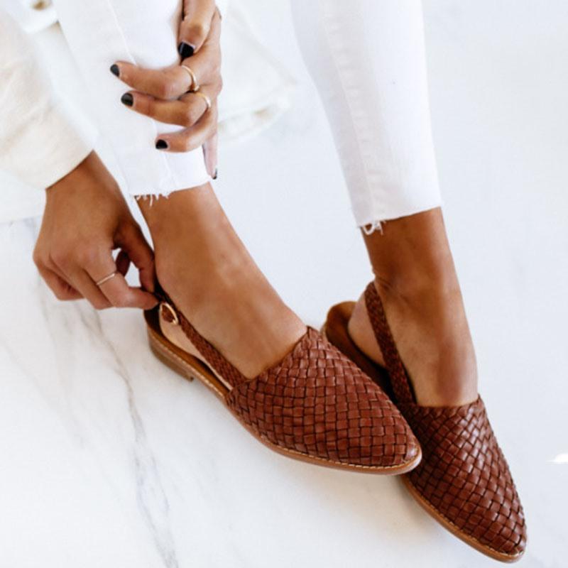 Ericdress Buckle Block Heel Round Toe Casual Sandals
