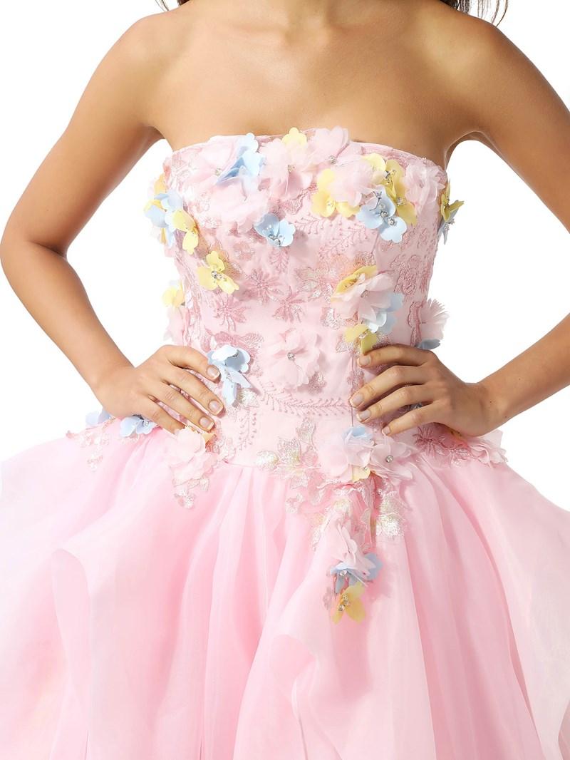 Ericdress Appliques Ball Gown Strapless Floor-Length Quinceanera Dress 2020