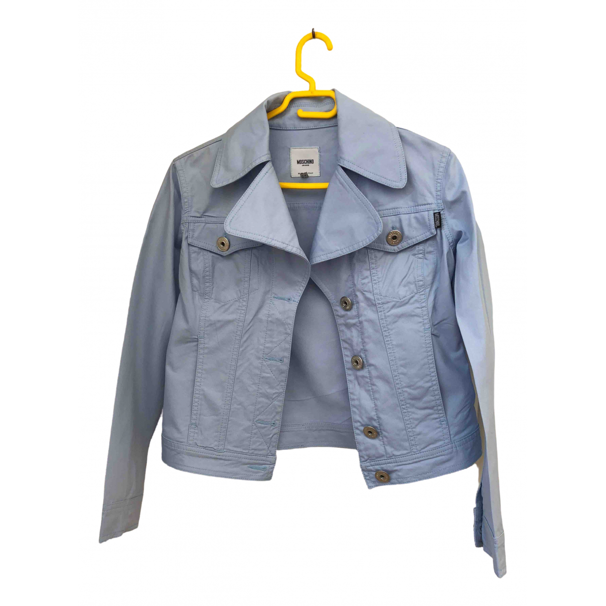 Moschino Cheap And Chic \N Blue Cotton Leather jacket for Women 36 FR