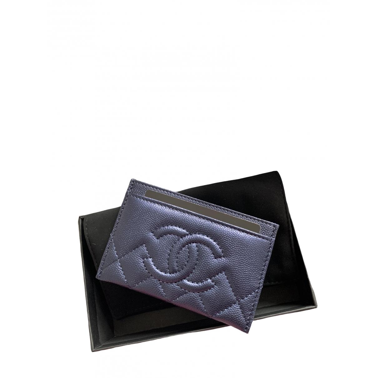 Chanel - Petite maroquinerie Timeless/Classique pour femme en cuir - bleu
