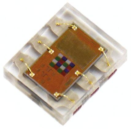 ams TCS34715FN , Colour Sensor, Light to Serial 625 nm I2C 6-Pin FN (2)