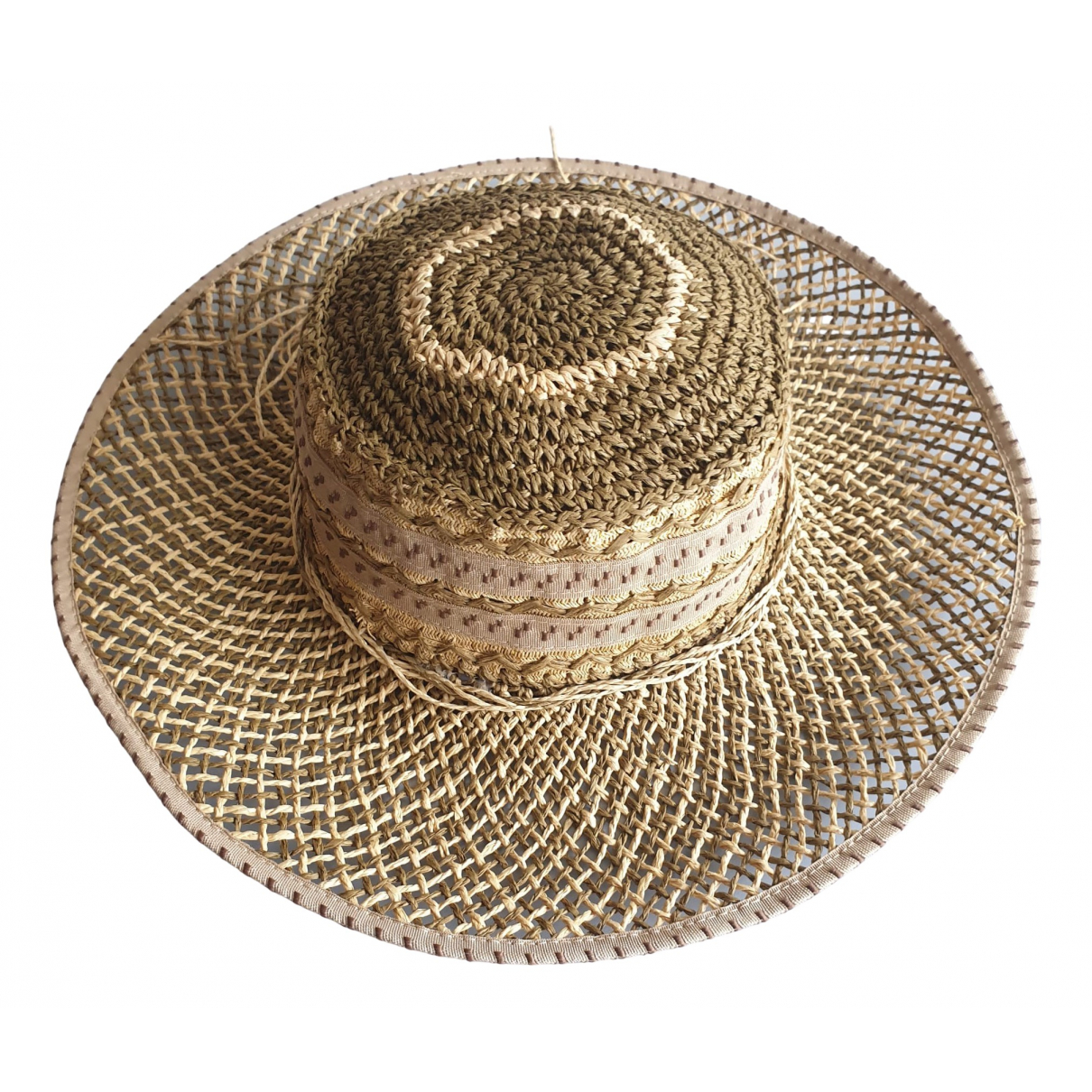 Non Signé / Unsigned N Beige hat for Women L International
