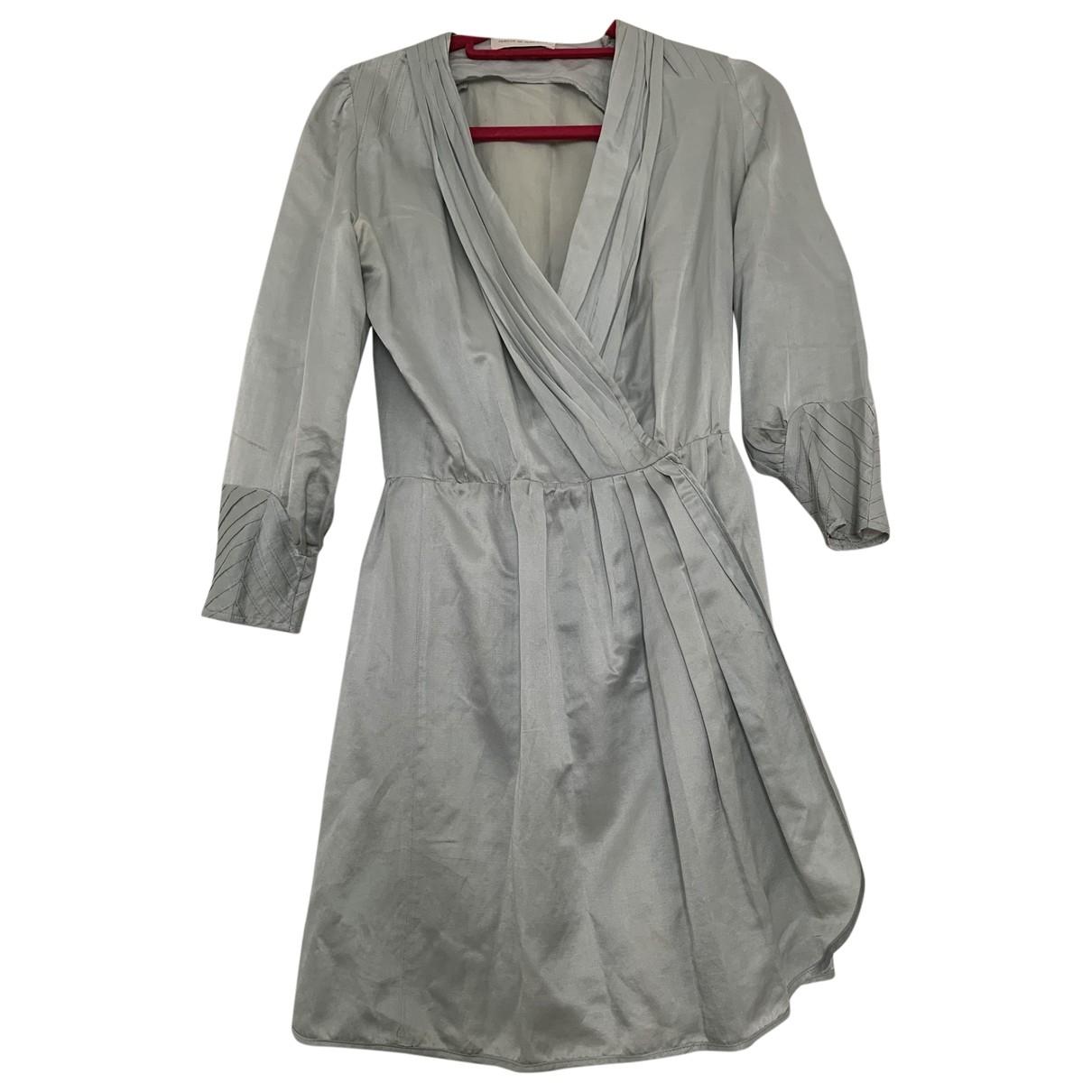 Camille De Dampierre - Robe   pour femme en soie - vert