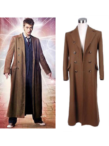 Milanoo Doctor Who Peter Capaldi Halloween Cosplay OvercoatCostume Halloween