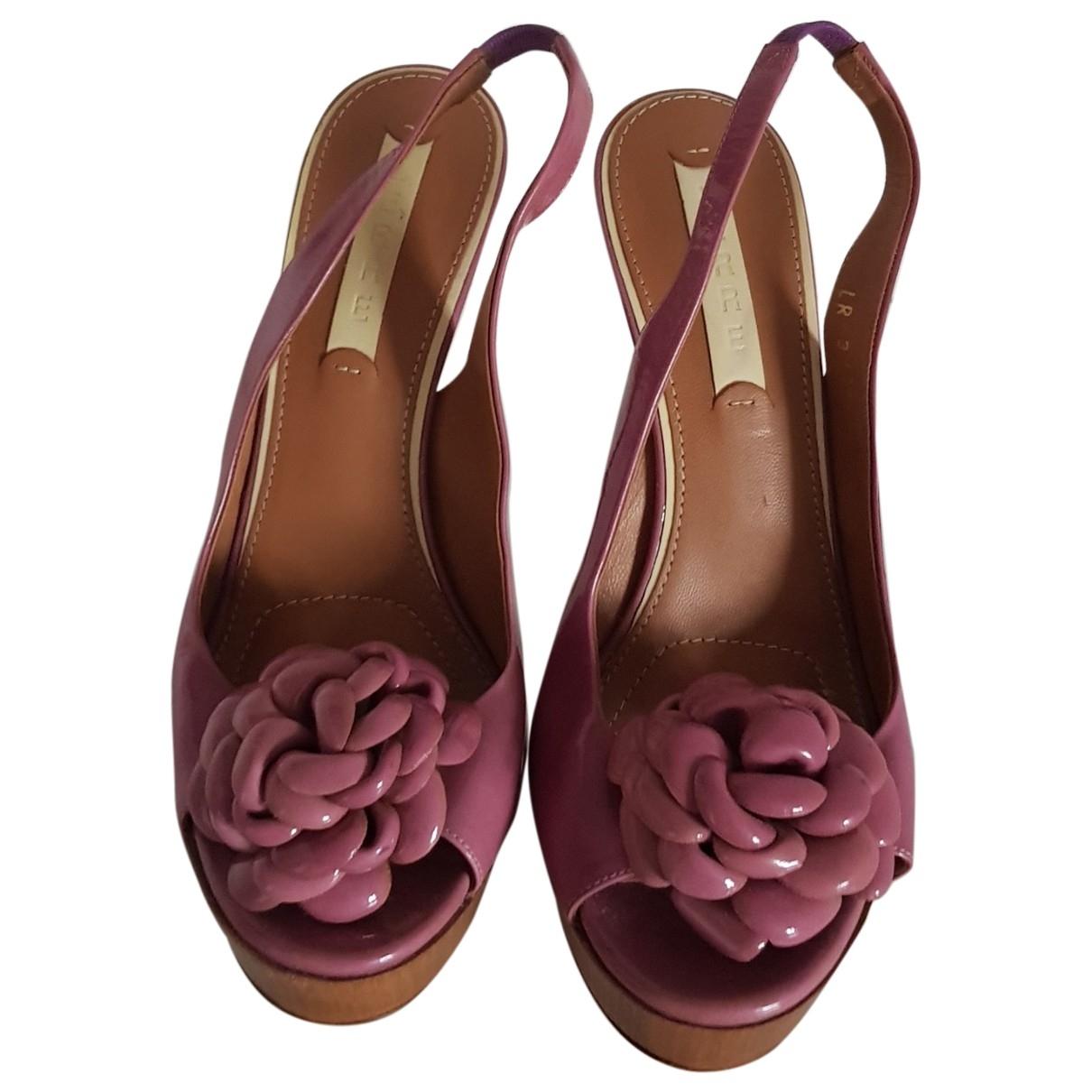 Lerre - Sandales   pour femme en cuir - violet