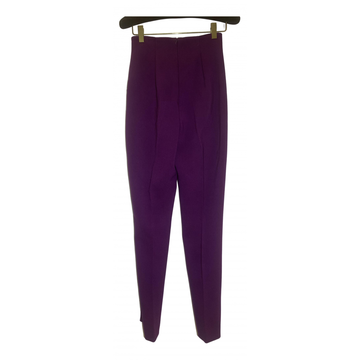 Lk Bennett \N Purple Trousers for Women 36 FR