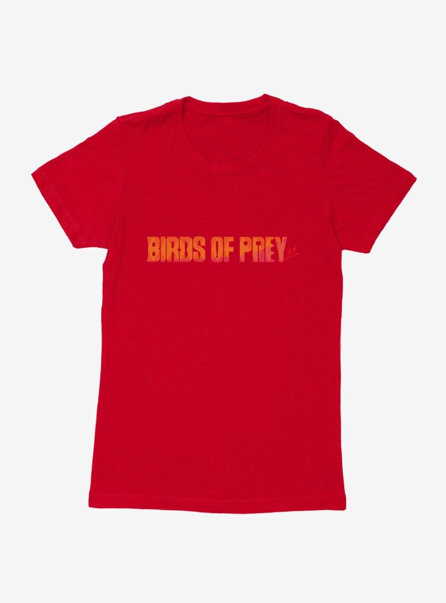 DC Comics Birds Of Prey Sunset Title Womens T-Shirt