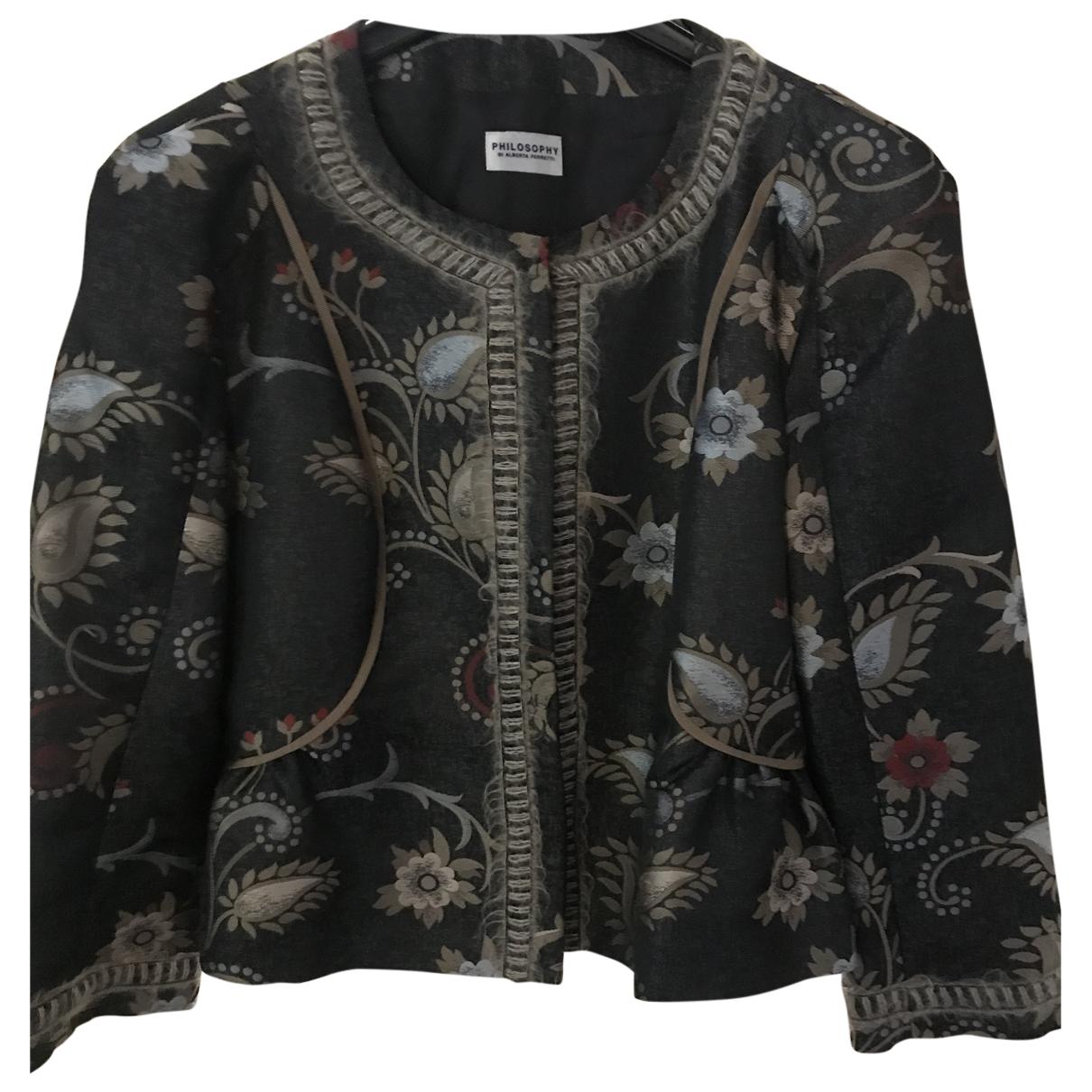 Philosophy Di Alberta Ferretti \N Grey jacket for Women 42 IT