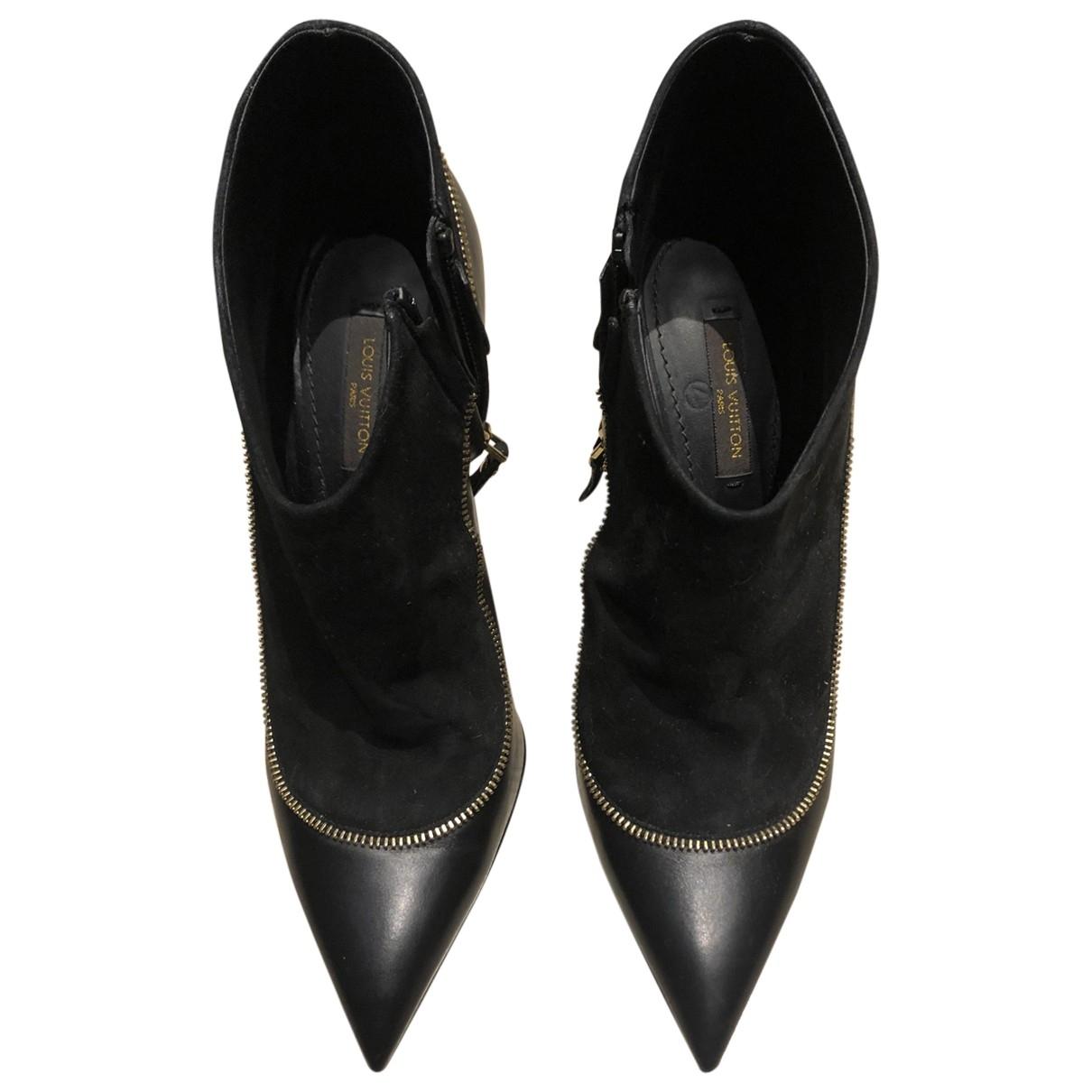 Louis Vuitton \N Black Leather Ankle boots for Women 36.5 EU