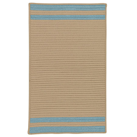 Colonial Mills Sonoma Accent Stripe Braided Rectangular Reversible Indoor/Outdoor Rugs, One Size , Blue